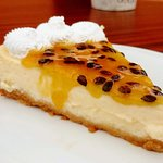 Cheesecake with passion fruit marmalade