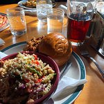 Pulled pork, quinoa salad