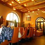 Az étterem belső tere