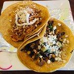 Tinga and Veggie Tacos