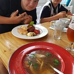 Obiad - rosołek i tatar wołowy