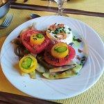 salade de tomates et haricots