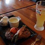 Stor Ribeye med lækker øl