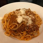Main course of spaghetti bolognese