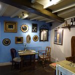 Inside the pub.