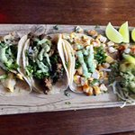 Selection of three tacos