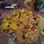 Cuscus de pollo con curry