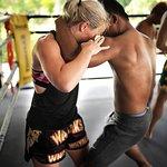 Muay Thai Clinch practice