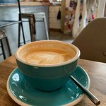 Best latte ever in greater atmosphere.