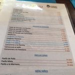 A lot of choices on their menu. The seafood was very fresh and well prepared.