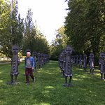 Figures in a landscape at Roche Court
