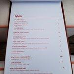 bar food menu