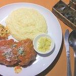 A fusion chicken dish