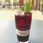 Queen Anne Specialty Drink (Summer Cold Brew with Basil and Hibiscus Lemonade)