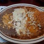 Chili Relleno and cheese enchilada combo