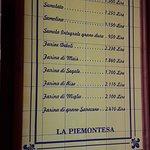 La Piemontesa. Entrada