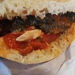 Spicy fish pita