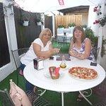 Agata (my cousin) and I, Marysia enjoying our Italian afternoon