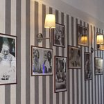 The inside décor of the restaurant, very reminissant of Italy