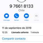 Llamada a Jorge Triviño consultando por hora de inicio de observación del día 11 de Septiembre de 2019
