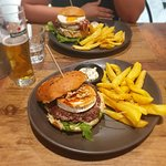 Vislumbre do hambúrguer