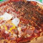 Pizza bbq y carbonara