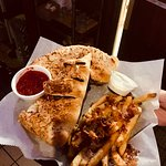 calzone with bacon cheddar fries