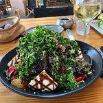 Fantastic quinoa and goat cheese salad....