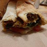 Wrap at the Peas Vegan Restaurant