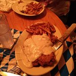 Chicken Fried Steak, my friends had it with Fries, I would have chosen mashed potatoes and gravy