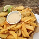 Fish & Chips - big portion, enough for 2 & really good but oh my god the service is despicable,