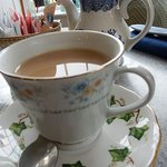 Delicate fine china fitting a true tea house
