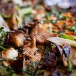 Flatbread was so good with fresh wild mushrooms