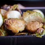 Roasted Brussels sprouts