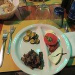 First Course - Squash,eggplant and tomato with mozzarella