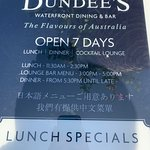 Opening hours of Dundee's