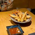 Langostinos en tempura con salsa sweet chili