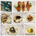 Collage del menú degustación