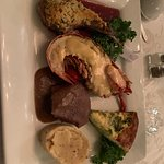 This is the Taste of Canterbury - Lamb, Lobster, and Filet with potatoes (infused with bacon) an