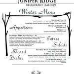 Main Dining Winter Menu - page 1