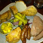 Butchers platter -delicious sausage roll and sausages...