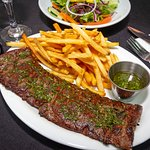 Churrasco Steak with Fries and Salad