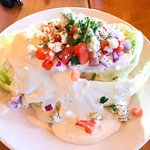 Side wedge salad - extra dressing of course!