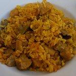 Magnífico el arroz de boletus y secreto.