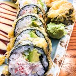 Super Bowl roll - a deep fried California roll