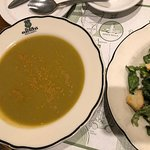 Pea Soup Andersen's famous soup with side Caesar salad
