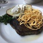 Rib eye steak and fixings..