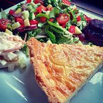 Homemade Quiche and Salad
