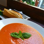 Homemade Tomato Soup and a Roll