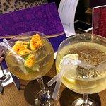 rhubarb gin with honeycomb!!